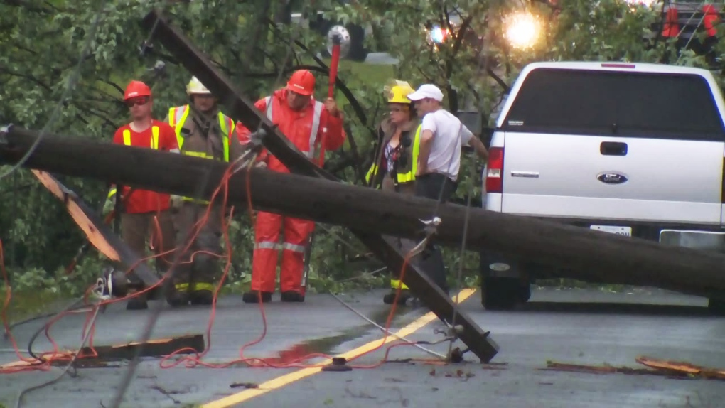 Power outages possible as wind gusts approach 80 km/hr