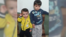 Alan, left, and his brother Ghalib Kurdi