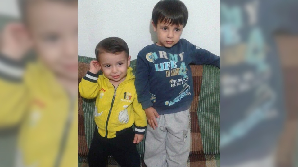 Alan, left, and his brother Ghalib Kurdi are seen in an undated family handout photo courtesy of their aunt, Tima Kurdi. (HO / THE CANADIAN PRESS)