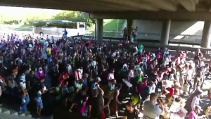 Migrant March moving