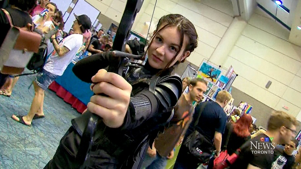 Thousands of people are showing off their costumes at the annual Fan Expo at the Metro Toronto Convention Centre.