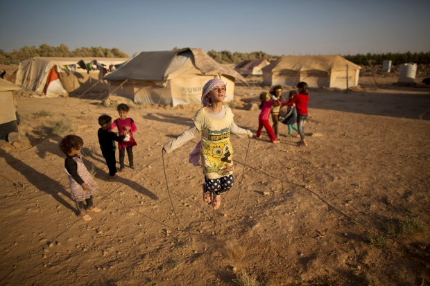 Syrian refugees in Mafraq, Jordan