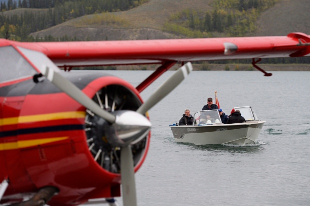Harper in Whitehorse during election campaign