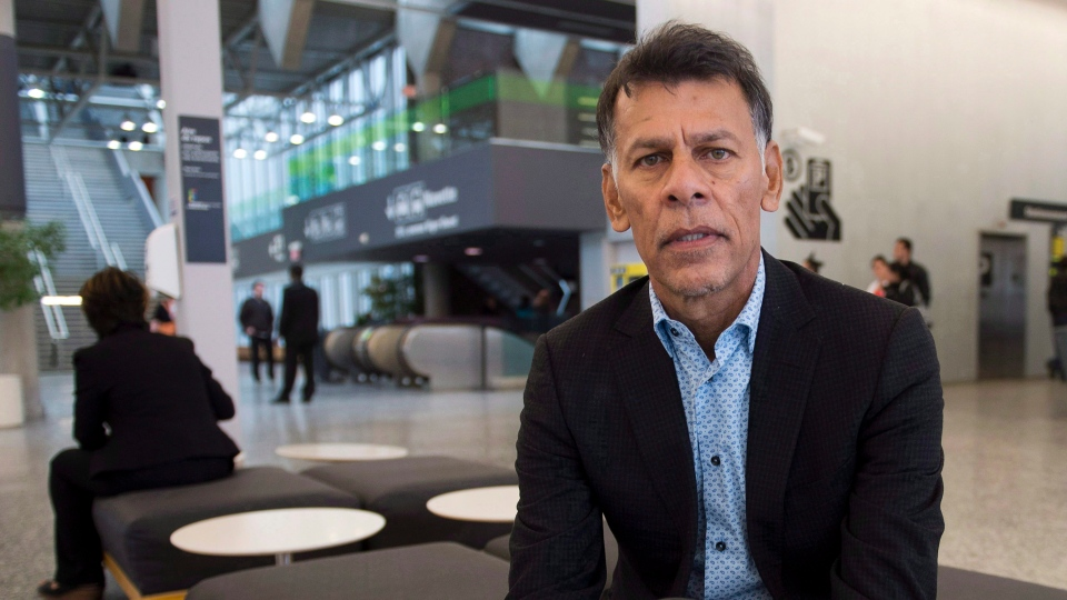 Hassan Yussuff, president of the Canadian Labour Congress, is seen at the labour organization's convention on May 9, 2014, in Montreal. Unions have to do a better job of connecting with the public as governments attempt to roll back hard-fought labour rights, says Yussuff. THE CANADIAN PRESS/Ryan Remiorz