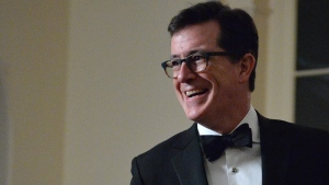 Stephen Colbert is pictured in this undated photo. (AFP PHOTO/Nicholas KAMM)