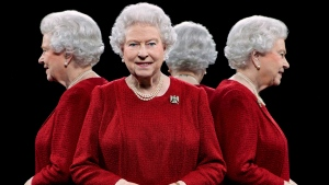 This is a portrait photo released on Sunday, Aug. 2, 2015 of Queen Elizabeth II taken on May 1, 2013, at Windsor Castle, England by British photographer Hugo Rittson-Thomas, using a technique that involves the use of mirrors to show a subject from four sides. (Hugo Rittson Thomas / THE CANADIAN PRESS)