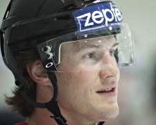 Team Canada captain Shane Doan during a practice session at the Khodinka arena, May 3, 2007 in Moscow, Russia.  (CP / Jacques Boissinot)