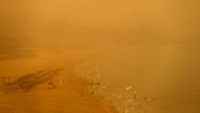 Unseasonal sandstorm in Lebanon