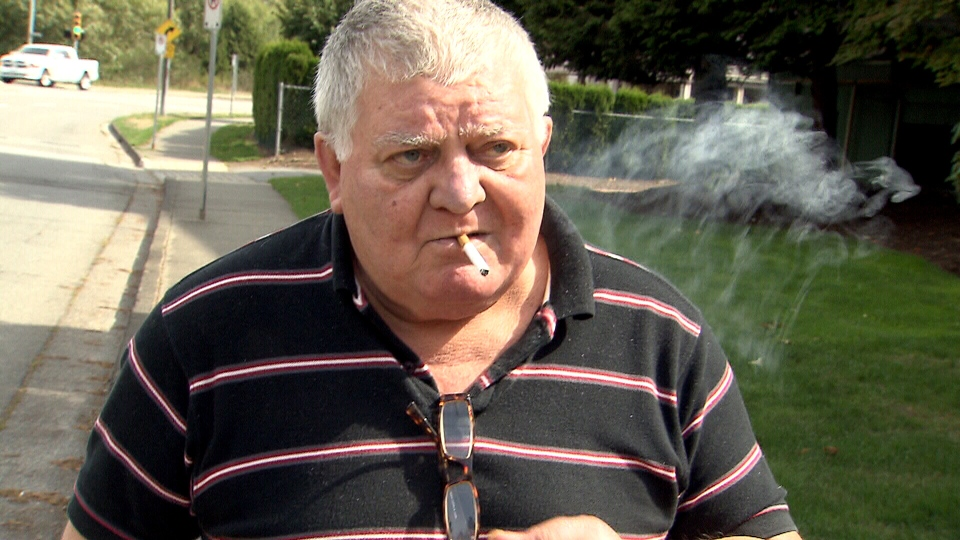 Paul Aradi, 70, has been smoking for 50 years. He lives in a building where it is prohibited to light up inside common areas and suites – a rule that was passed by the condo board, or strata council, in 2009.