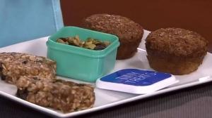 Blueberry brain boosting bars & carrot gingerbread