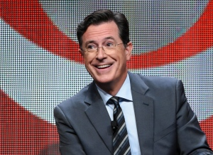 In this Aug. 10, 2015 file photo, Stephen Colbert participates in the 'The Late Show with Stephen Colbert' segment of the CBS Summer TCA Tour in Beverly Hills, Calif. (Richard Shotwell / Invision )