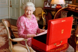 Queen Elizabeth II is shown in a photograph taken in July 2015. The image was released by Buckingham Palace on Tuesday Sept. 8, 2015 to mark the Queen becoming the longest reigning British monarch. (Mary McCartney / Queen Elizabeth II via AP)