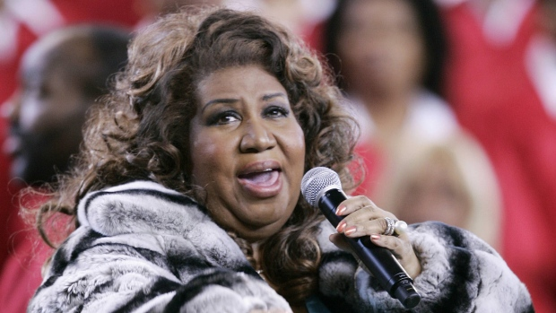 Aretha Franklin is shown in an undated photo. (AFP / Jeff Haynes)