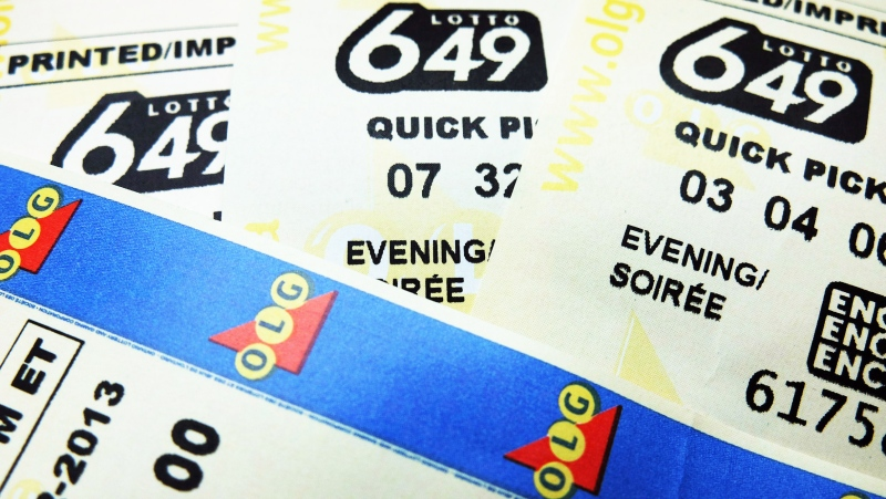 Lotto 649 tickets are seen in this file image.