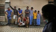 Village boys in Sorkhi village, Haryana