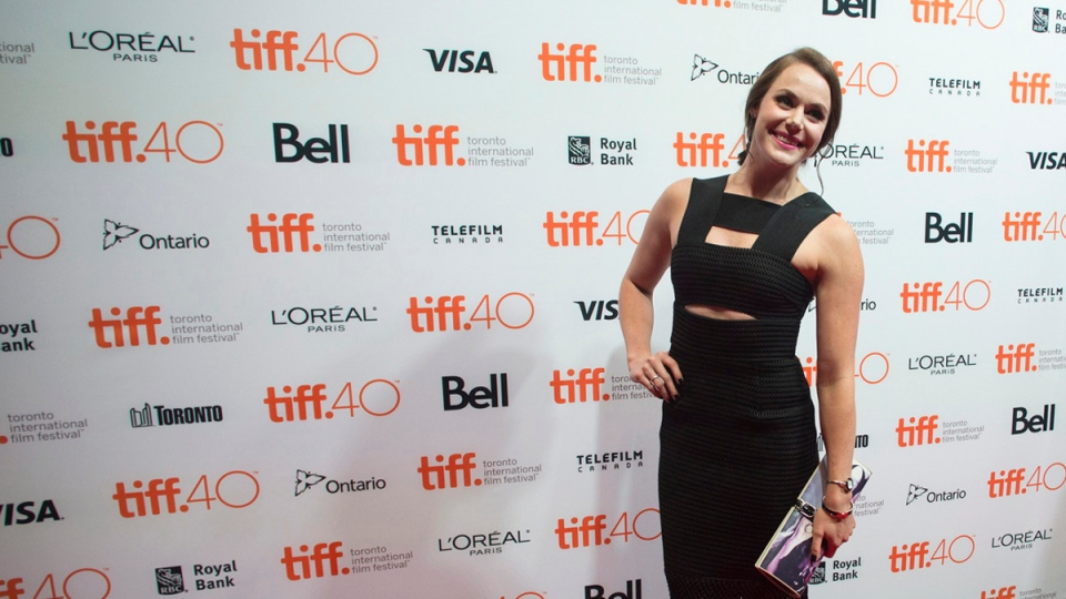 Tessa Virtue attends a TIFF soiree, a charity event ahead of the 2015 Toronto International Film Festival in Toronto on Wednesday, Sept. 9, 2015. (Chris Young / THE CANADIAN PRESS)