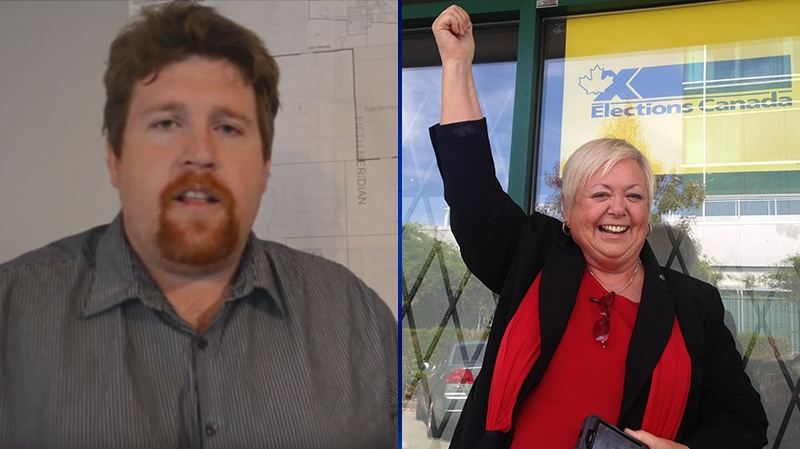 Liberal party candidates Joy Davies and Chris Brown are in hot water after controversial comments they made on social media surfaced this week. (Facebook)