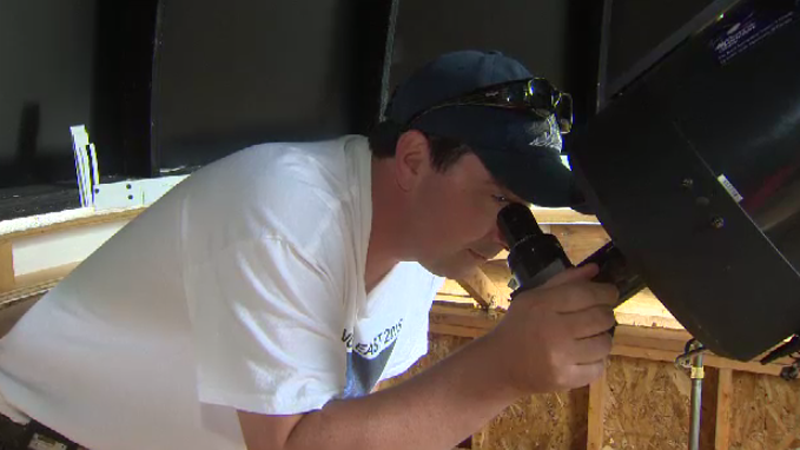 With his family's help, Tim Doucette is building an observatory in Yarmouth County.