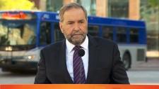 NDP Leader Thomas Mulcair in Edmonton