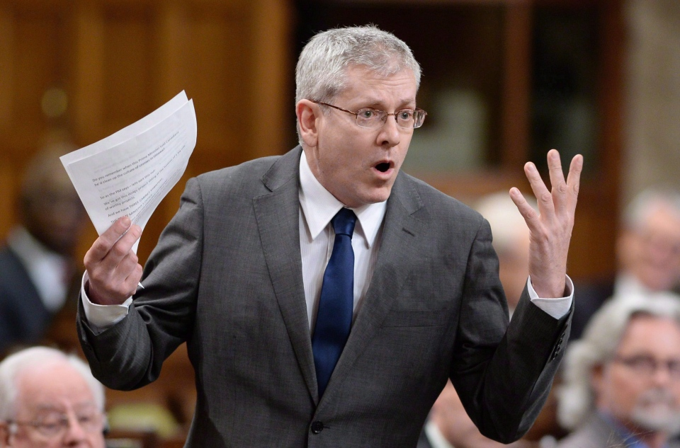NDP MP Charlie Angus asks a question during question period in the House of Commons on Parliament Hill in Ottawa on March 12, 2015. (Sean Kilpatrick / The Canadian Press)