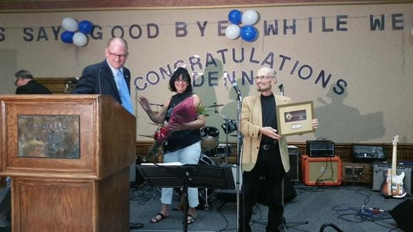 Denis Solet receives key to the city
