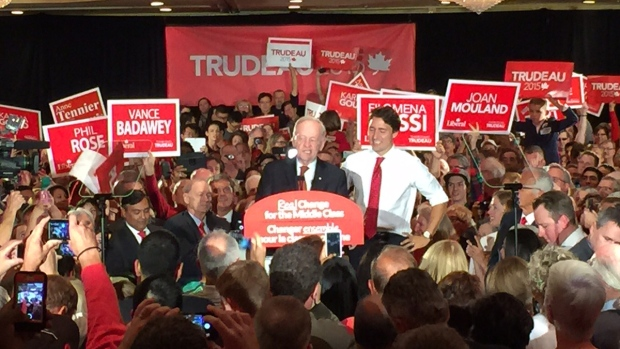 Jean Chretien with Liberal Leader Justin Trudeau