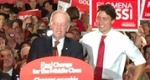 Jean Chretien and Justin Trudeau on the campaign trail