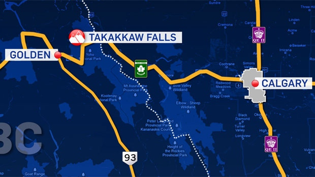 Takakkaw Falls missing climber