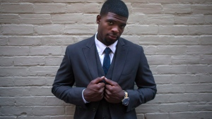 Montreal Canadiens defenceman P.K. Subban attends the launch of men's fall suiting for RW & Co., in Toronto, on Tuesday, Sept. 1, 2015. (THE CANADIAN PRESS/Chris Young)