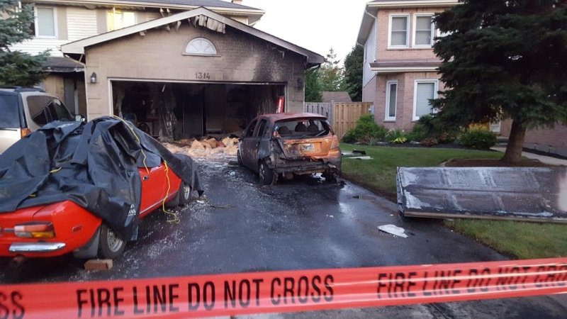 Damage is extensive after an overnight fire on Tuesday, September 15, 2015 on Basswood Rd. in London, Ont, that has been deemed suspicious. (CTV London / Justin Zadorsky)