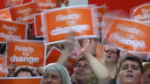 NDP supporters