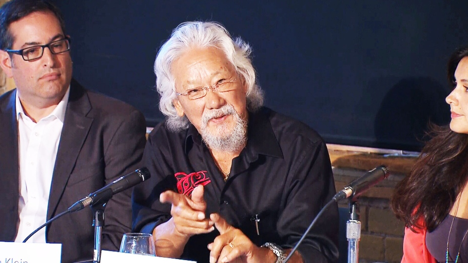 David Suzuki speaks about the Leap Manifesto.