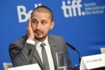 "Shia LaBeouf appears at a press conference for ""Man Down"" on day 6 of the Toronto International Film Festival at the TIFF Bell Lightbox on Tuesday, Sept. 15, 2015, in Toronto. (Photo by Evan Agostini/Invision/AP)"