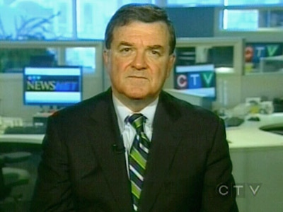 Finance Minister Jim Flaherty appears on CTV's Question Period on Sunday, Nov. 23, 2008.