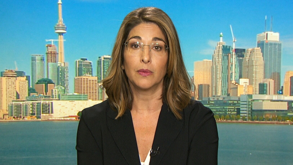 Author Naomi Klein appears on CTV's Power Play on Tuesday, Sept. 15, 2015.
