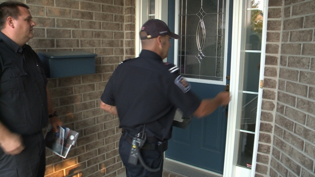Wake Up C&aign. CTV Ottawa & Firefighters go door-to-door to encourage fire safety in the home ...