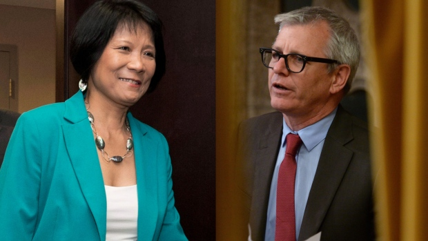 Olivia Chow and Adam Vaughan composite