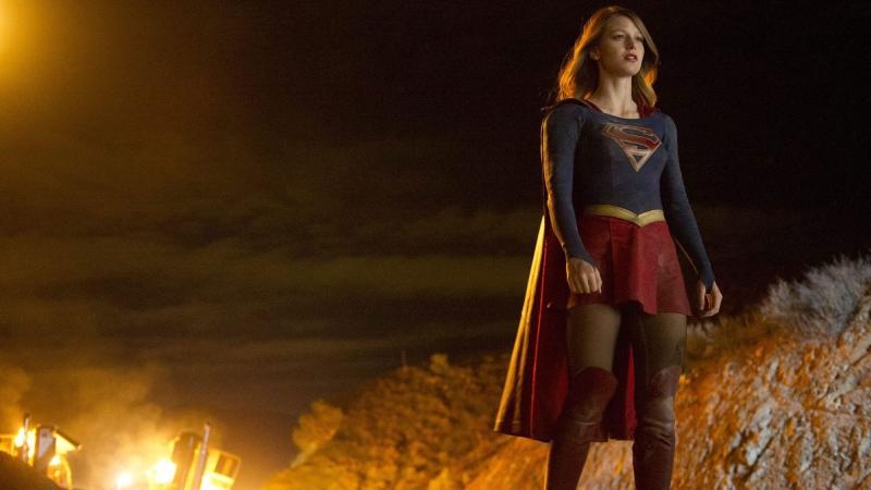 Melissa Benoist appears in a scene from 'Supergirl.' (Darren Michaels/CBS)