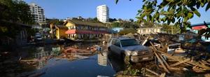 Tsunami triggered by earthquake