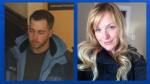 Christopher Garnier, left, is charged with second-degree murder in the death of Catherine Campbell, right.