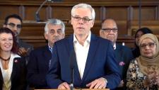 Premier Greg Selinger refugee funding announcement