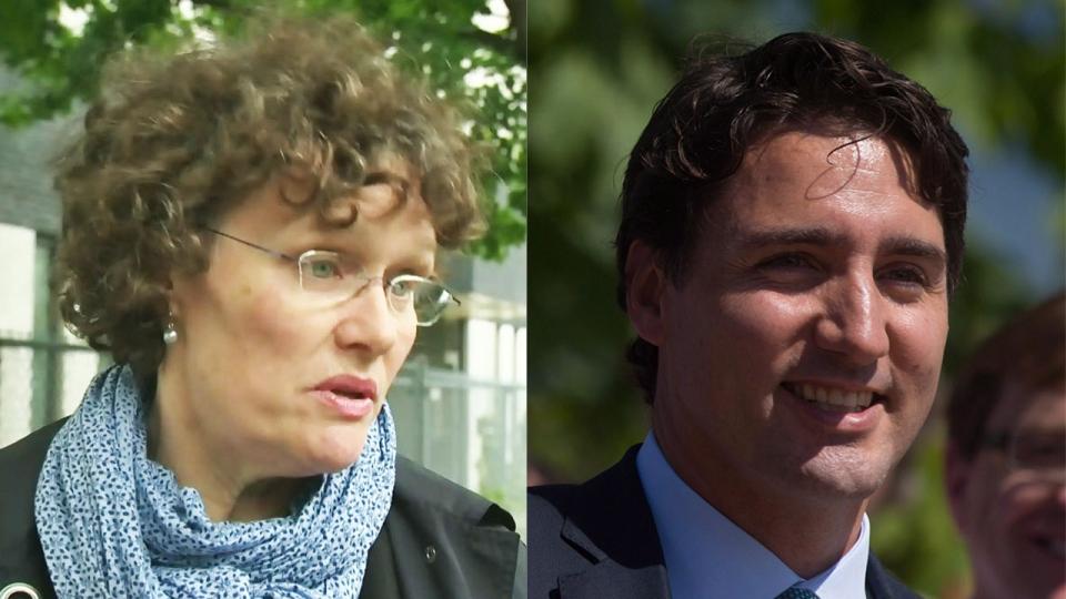 Anne Lagace Dowson and Justin Trudeau