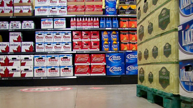 Beer sales in grocery stores