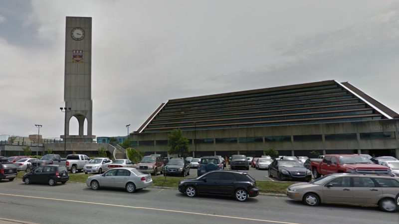 Google Street View image of Memorial University in St. John's, Newfoundland (Google Maps)
