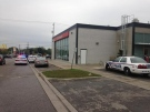 London police confirmed an armed robbery took place at a Scotiabank at Highbury and Hamilton in London, Ont., on Friday, Sept. 18, 2015. (Marek Sutherland / CTV London)