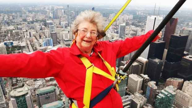 Woman Spends 85th Birthday Walking On Roof Of Cn Tower