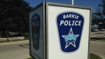 A sign for the Barrie Police Service can be seen in Barrie, Ont. on Tuesday, Sept.15, 2015. (Geoff Bruce/ CTV Barrie)