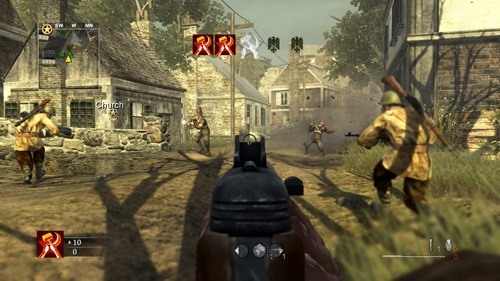 "This screenshot released by Activision depicts gameplay from the new World War II game ""Call of Duty: World at War."" It is the fifth installment in the series of first-person shooters.(AP Photo/Activision)"