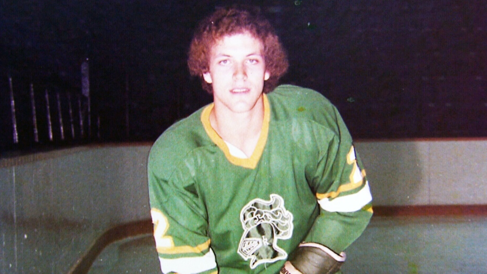 Chris McCauley, seen here, played hockey in his youth and suffered several head injuries. Now 52, he was recently diagnosed with ALS.