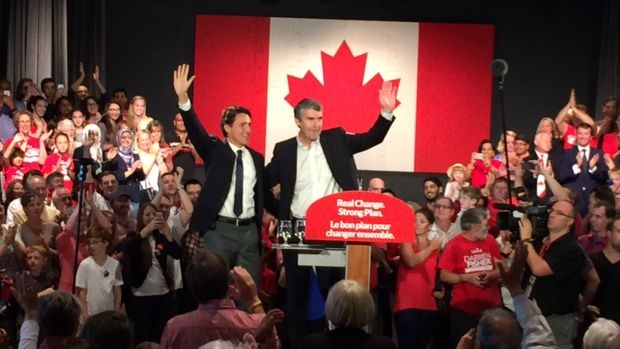 Justin Trudeau and Stephen McNeil.